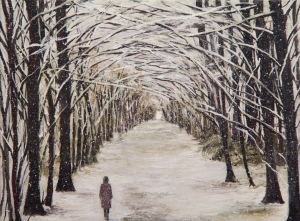 No. 2 Beneath the Boughs  16 X 12 inches  Oil on Canvas  £950
